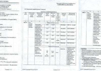 Протокол випробування № 5887-5888/19 від 08.10.2019 р.
