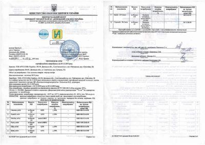 Протокол №10724 сетрифікаційних випробувань від 09.12.2019 року