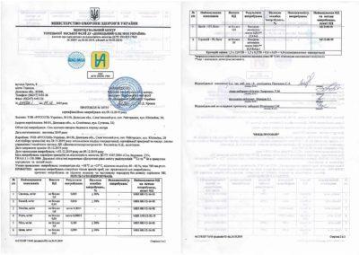 Протокол №10725 сетрифікаційних випробувань від 09.12.2019 року