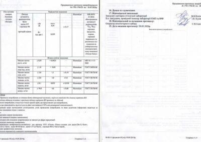 Протокол випробування №1795-1796/20 від 20.05.2020 року (Сторінка 1-2)