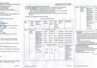 Протокол испытания № 5520-5521/20 от 13.11.2020 года
