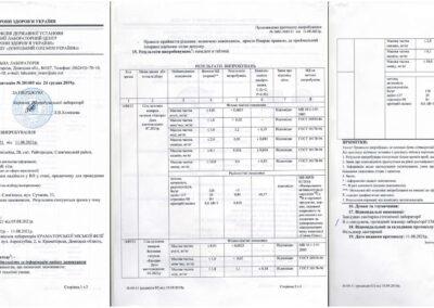 Протокол испытаний №3602-3603/21 от 11.08.2021 года